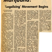 Marijuana: 'Legalizing' Movement Begins