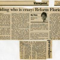Deciding who is crazy: Reform Florida's procedure