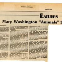 "Mary Washington ""Animals"" Throw Toga Bash"