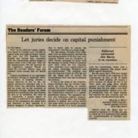 Let juries decide on capital punishment