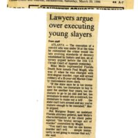 Lawyers argue over executing young slayers