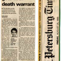 Joe Spaziano gets fifth death warrent