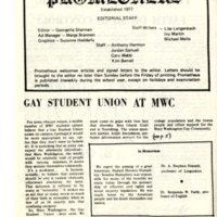 Gay Student Union at MWC
