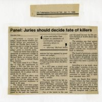 Panel: Jurors Should Decide the Fate of Killers