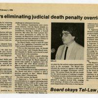 Bar favors eliminating judicial death penalty override