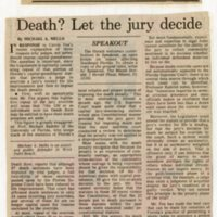 Death? let the jury decide.