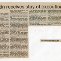 Martin receives stay of execution