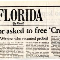 Governor asked to free 'Crazy Joe'