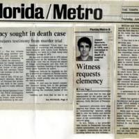 Clemency sought in death case