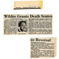 Wilder Grants Death Sentence Reversal