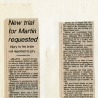 New trial for Martin requested